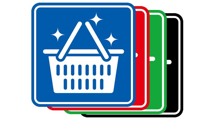 清潔な買い物かごピクトグラム2